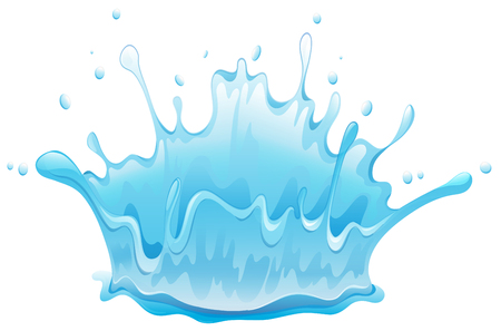 Water splash pattern on white background illustration.