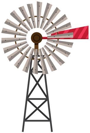 Turbine on white background illustration. Illustration