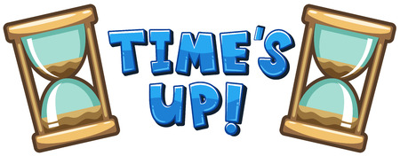Font design for word time's up illustration 矢量图像