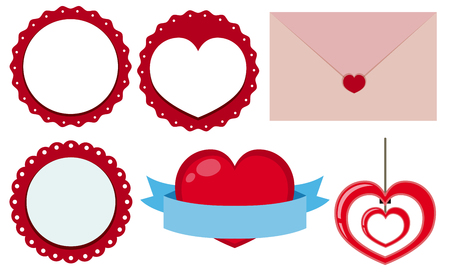Label designs for valentine day illustration