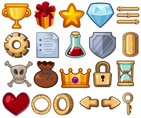Different types of symbol used for game illustration