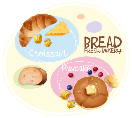Poster design for bread fresh bakery illustration Illustration