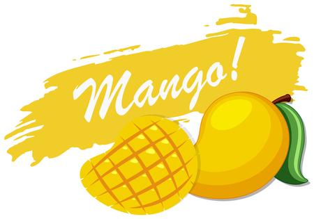 Icon design with fresh mango illustration