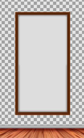 A Modern Wooden White Frame  illustration Vettoriali