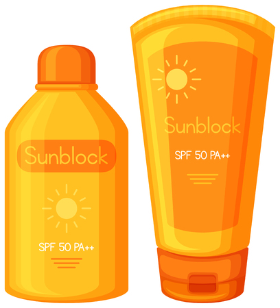 A Set of Sun Cream illustration Ilustrace
