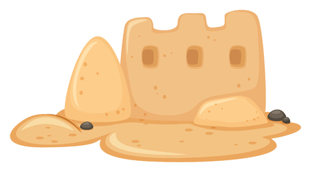 A Sand Castle on White Background illustration