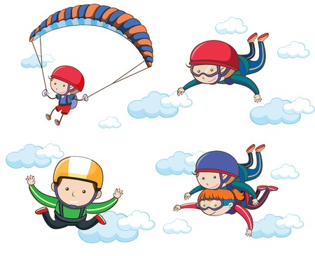 A Set of Extreme Sport on Sky illustration