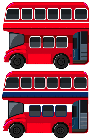 Double-decker Bus  on White Background illustration Stock Illustratie