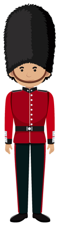 Royal British Soldier Uniform on White Background illustration