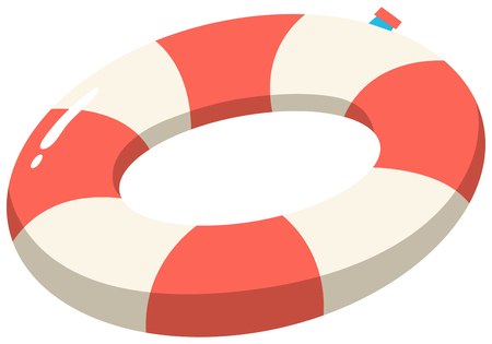 Red and White Safety Ring illustration  イラスト・ベクター素材