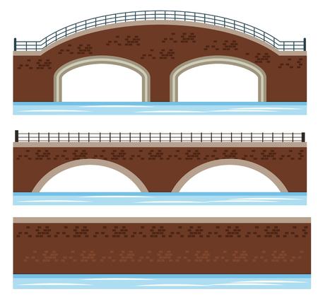 A Set of River Bridge illustration