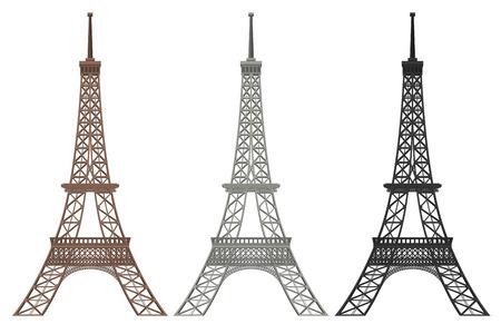 Ein Satz Eiffelturmillustration Vektorgrafik