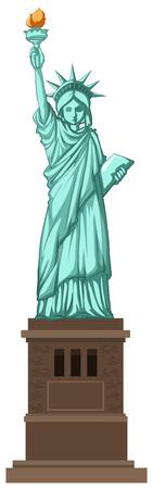 Eine Illustration der New Yorker Freiheitsstatue