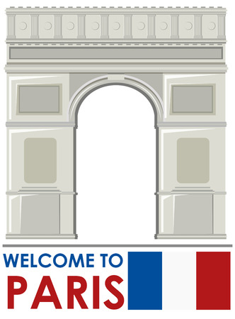 Arc de Triomphe Paris France Landmark illustration Illustration