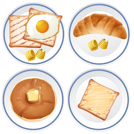 A Set of Delicious Breakfast illustration Ilustracja