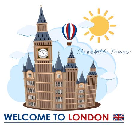 Big Ben in London Landmark illustration Illustration