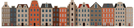 Scene of building streetscape illustration Illustration