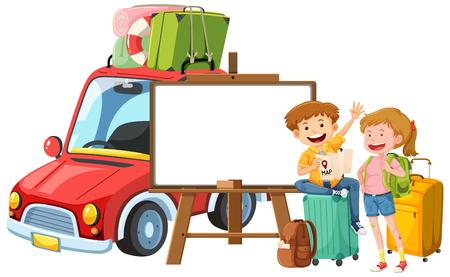 Abbildung einer Vorlage für eine Paarreise