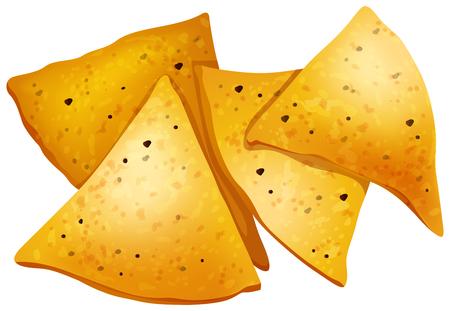 Tortilla Chips on White Background illustration