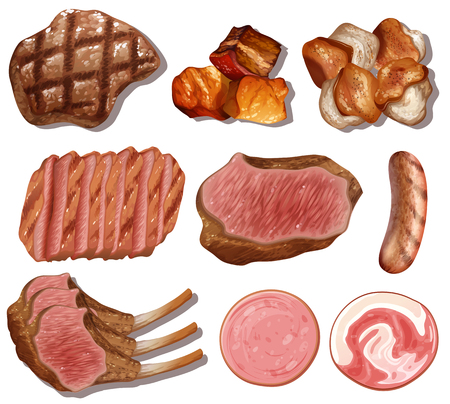 A Set of High Protein Food illustration