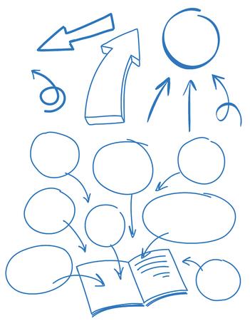 A Set of Doodle Symbol illustration