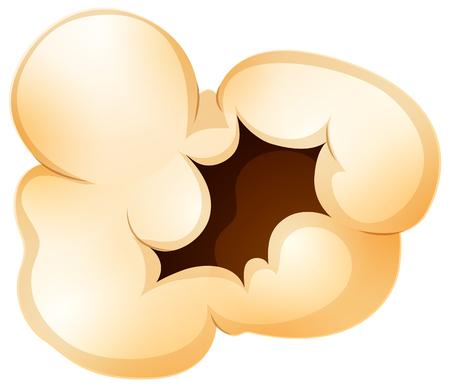 A Popcorn on White Background illustration