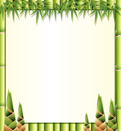 Ilustración de plantilla de bambú de naturaleza hermosa