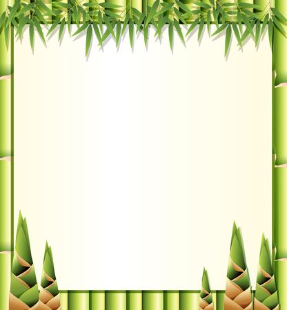 Piękna natura bambusowa ilustracja szablonu
