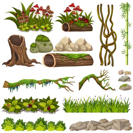 A set of nature elements illustration