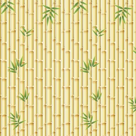 Bella illustrazione del modello di bambù della natura
