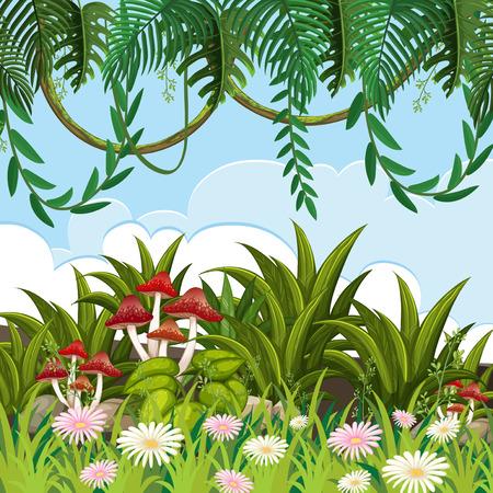 una naturaleza hermosa paisaje ilustración
