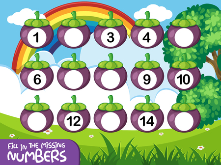 Math couting number game illustration
