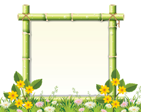 A beautiful nature frame illustration