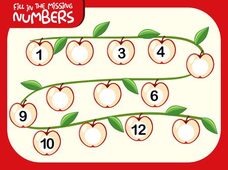 A number math worksheet illustration Illustration