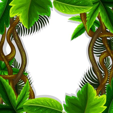 jungle leaves frame concept illustration Stock Vector - 111830401