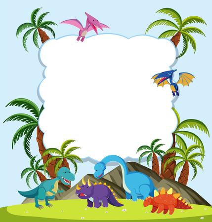 A Dinosaur frame concept  illustration Illustration