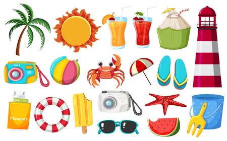 A set of summer elements illustration