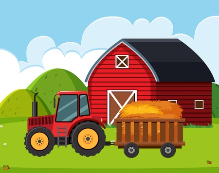 A nature farmland landscape illustration