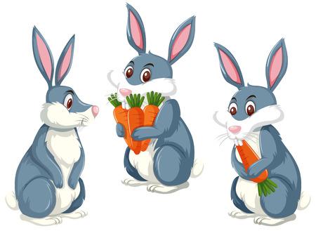 Een konijn op witte illustratie als achtergrond Vector Illustratie