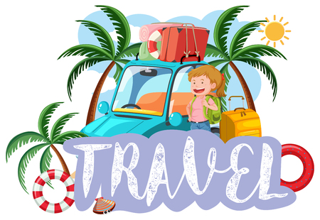 A travel icon on white background illustration