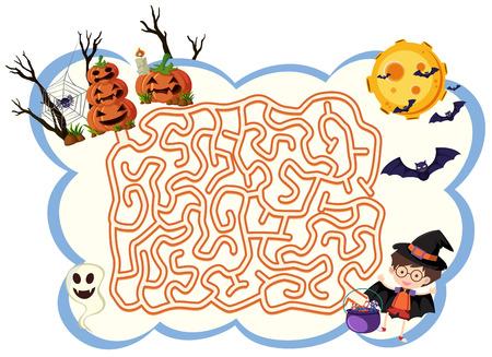 Maxe game template halloween theme illustration