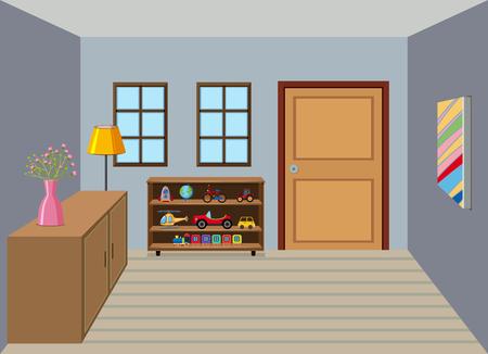 Illustration de fond intérieur de la salle