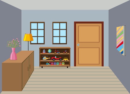 Interior of room background illustration