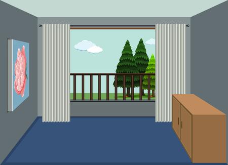 A design of empty apartment room illustration 矢量图像