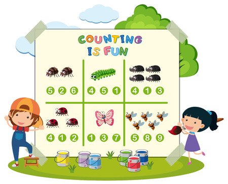 counting is fun game illustration