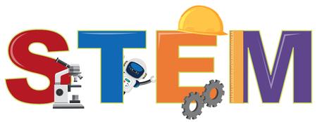 A STEM and element illustration Illustration