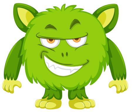 Playful monster face backgroud illustration