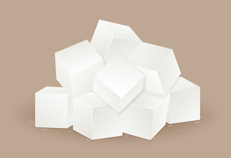 Many white sugar cube  illustration