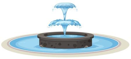 Isolated fountain on white background illustration Vecteurs