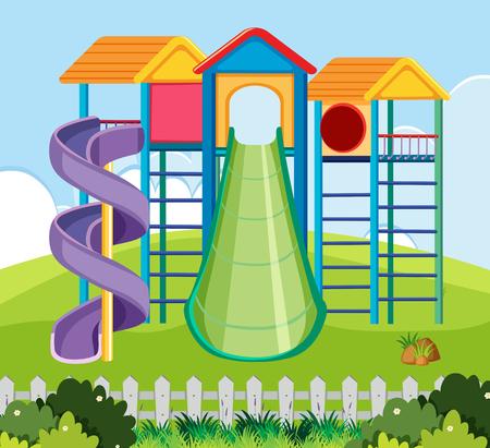 Large playground park scene illustration